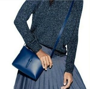 GUC! J. Crew Parker Navy Leather Bag Sz. Small